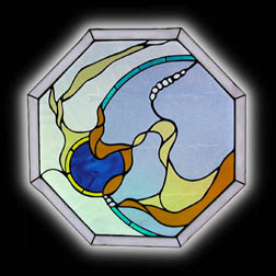 Contemporary Abstract Stained Glass Window