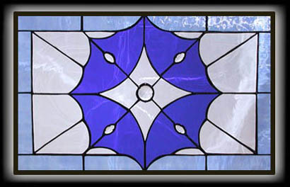 Rectangular Star Stained Glass Window